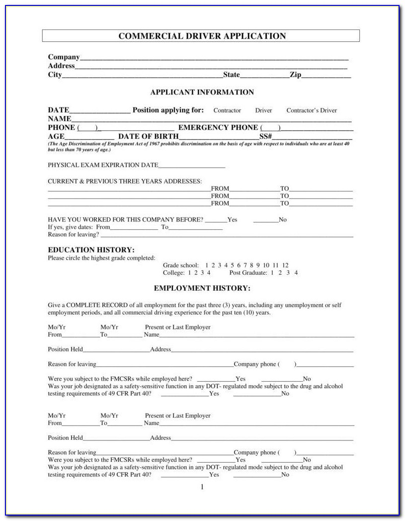 Truck Driving Application Templates