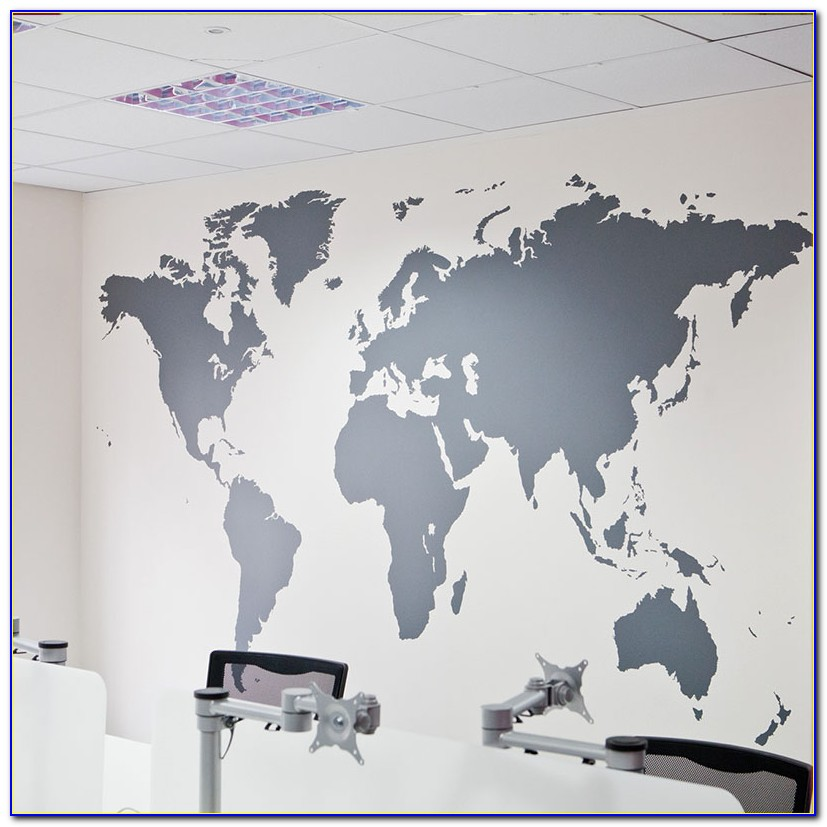 World Map Decal Large