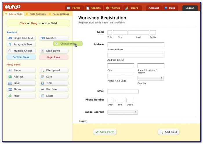 Wufoo The Online Form Builder