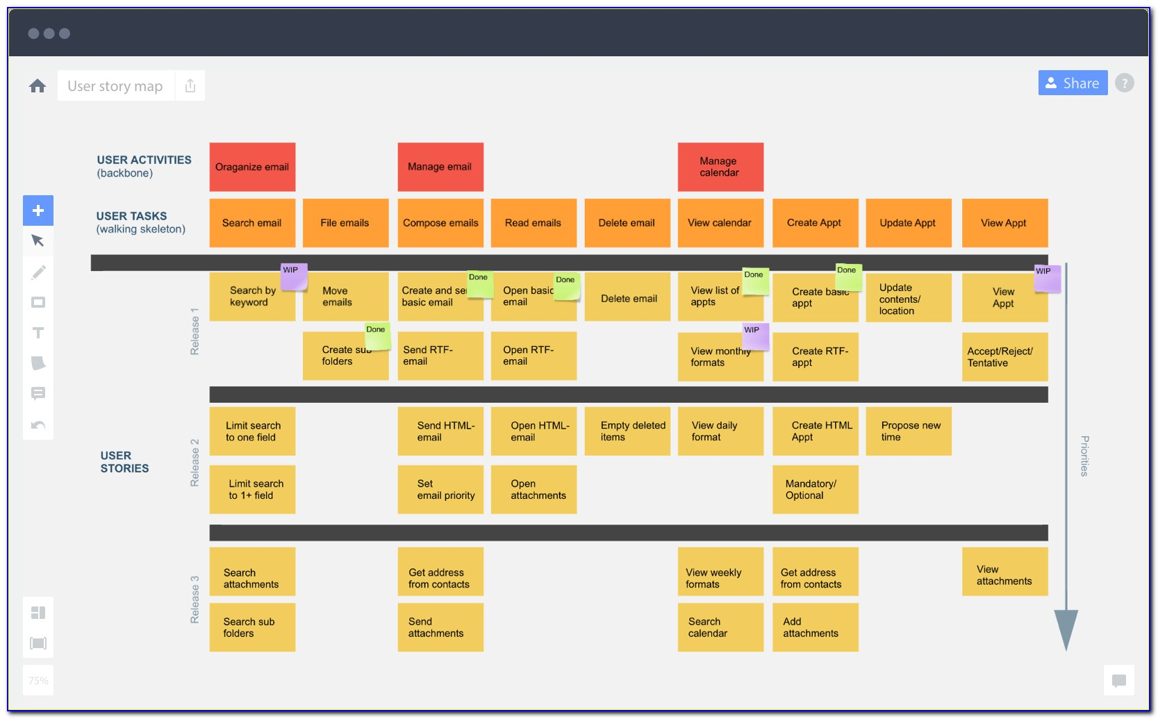 Agile Story Mapping Template Excel