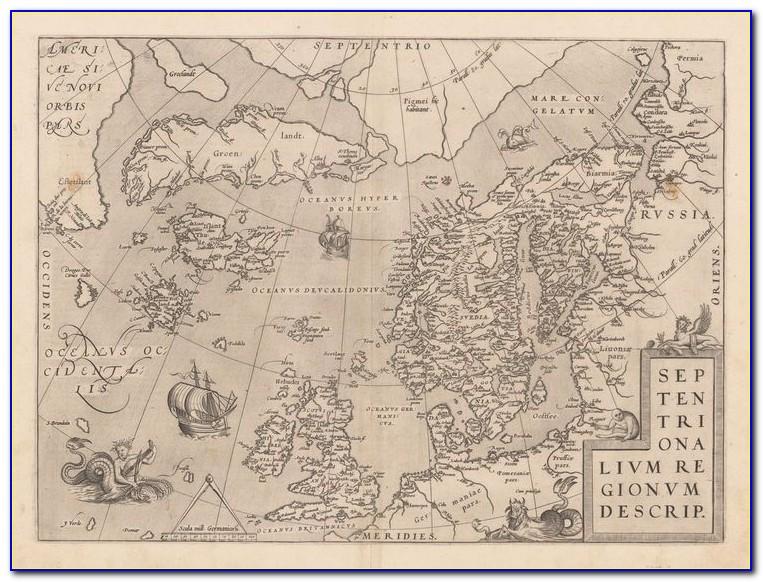 Ancient Map Of Scandinavia