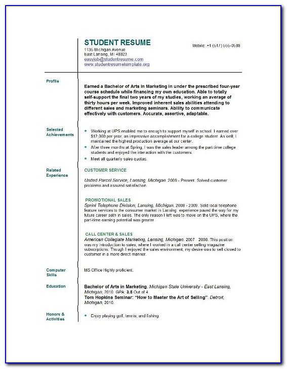 Best Resume Builder For College Students