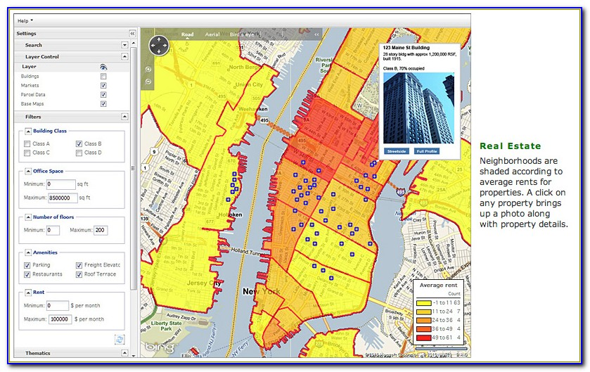 Bing Real Estate Map