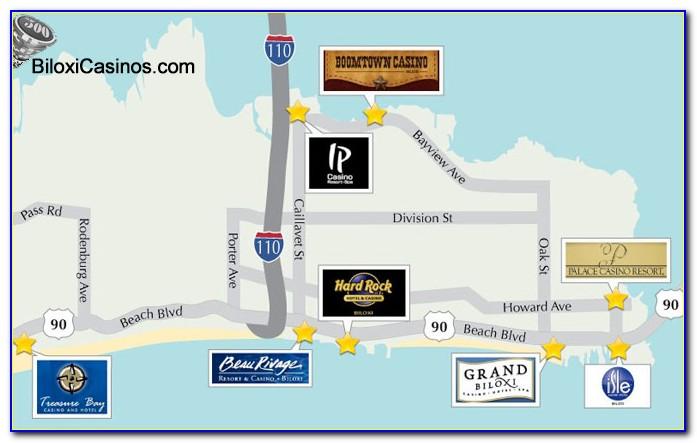 Casinos In Biloxi Mississippi Map