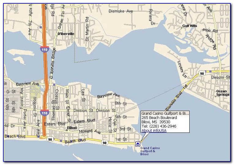 Casinos In Biloxi Ms Map