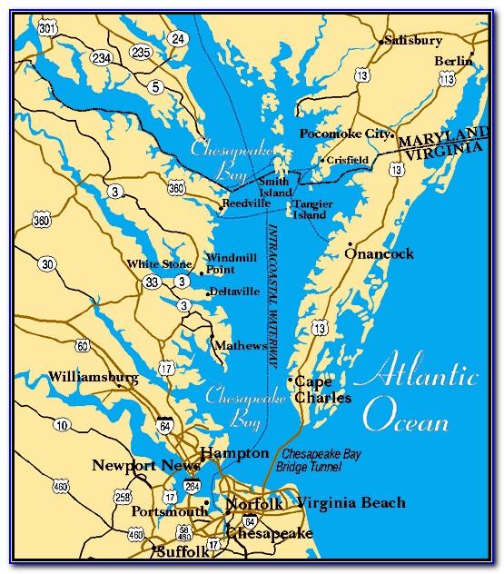Chesapeake Bay Map Poster