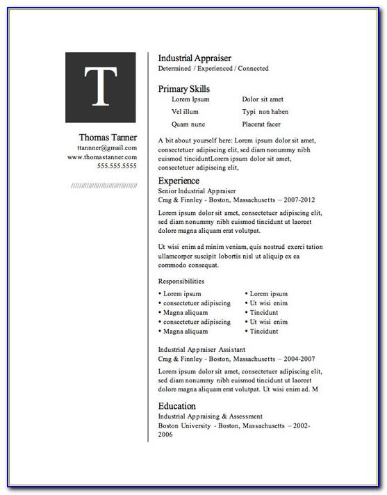 Download Resume Templates Free Microsoft Word