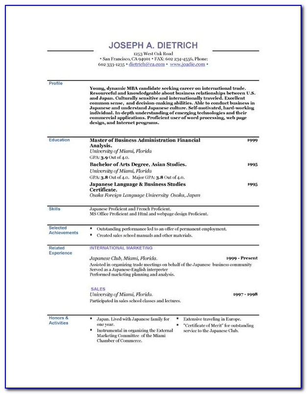Downloadable Resume Templates For Pages