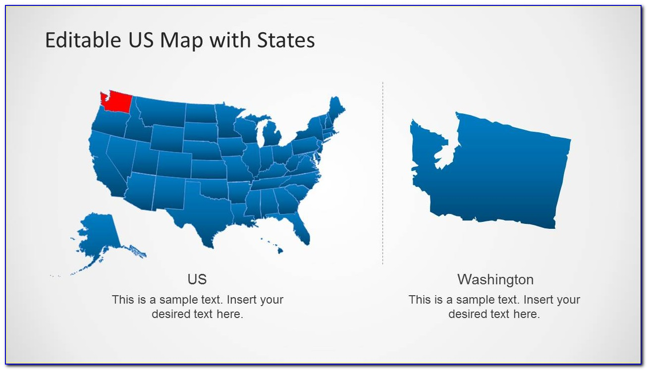 Editable Us Map Powerpoint Template