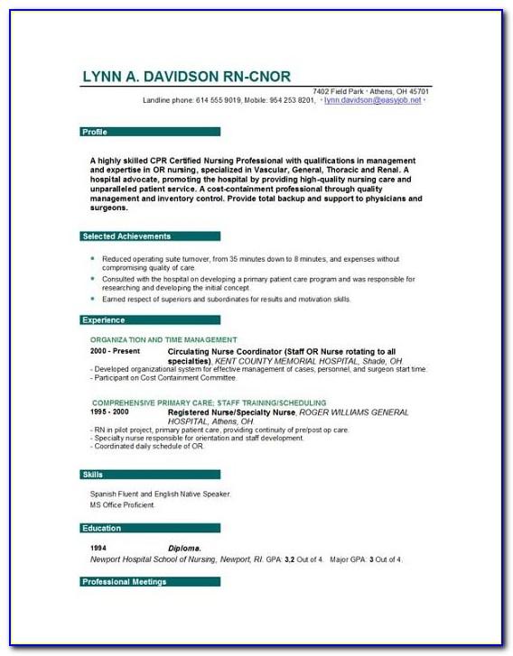 Free Lpn Nursing Resume Templates