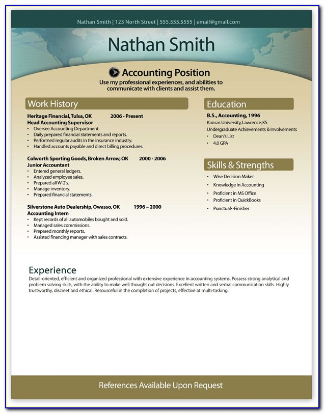 Free Modern Resume Template Download Word