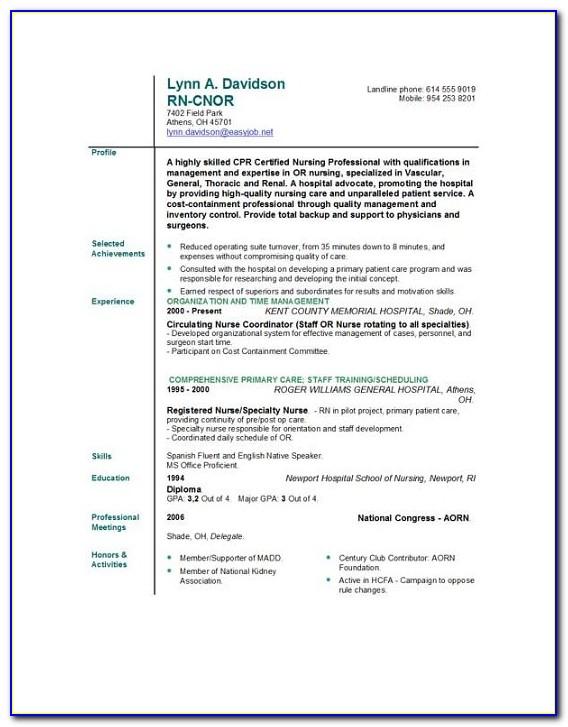 Free Nursing Resume Cover Letter Templates