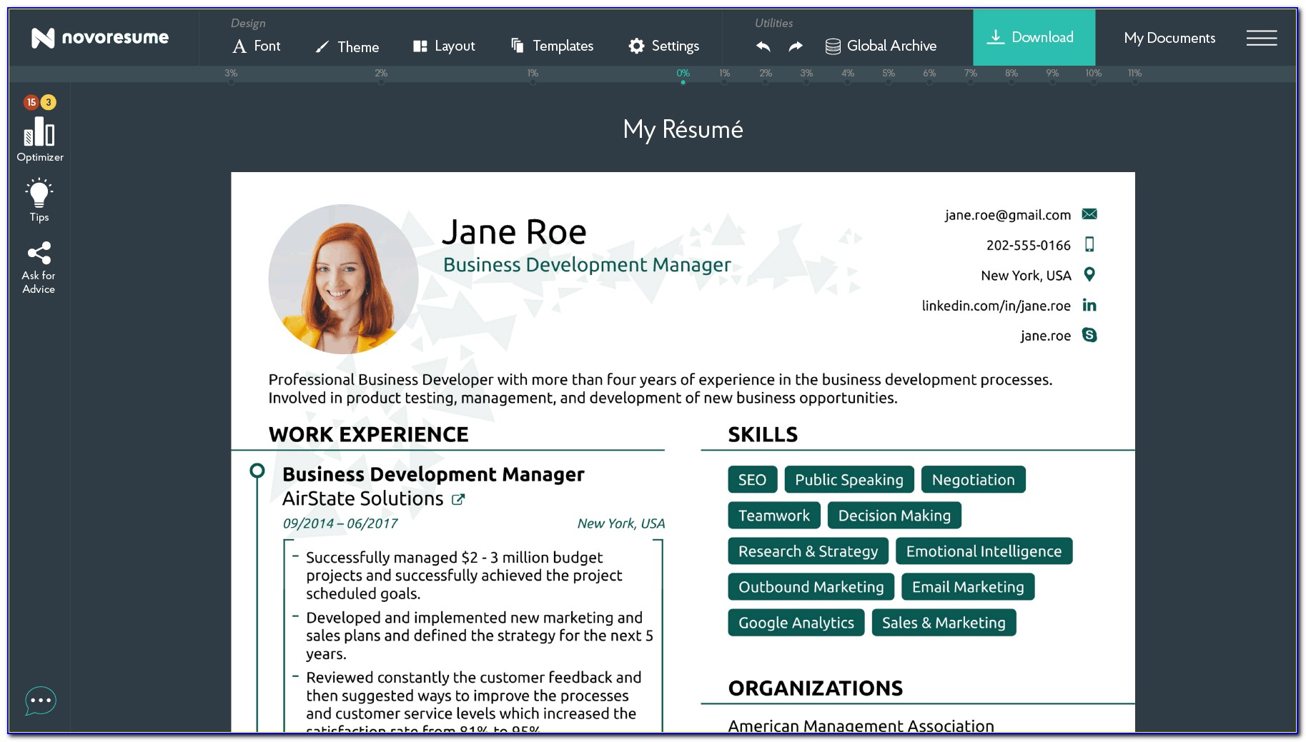 Free Online Resume Maker With Photo
