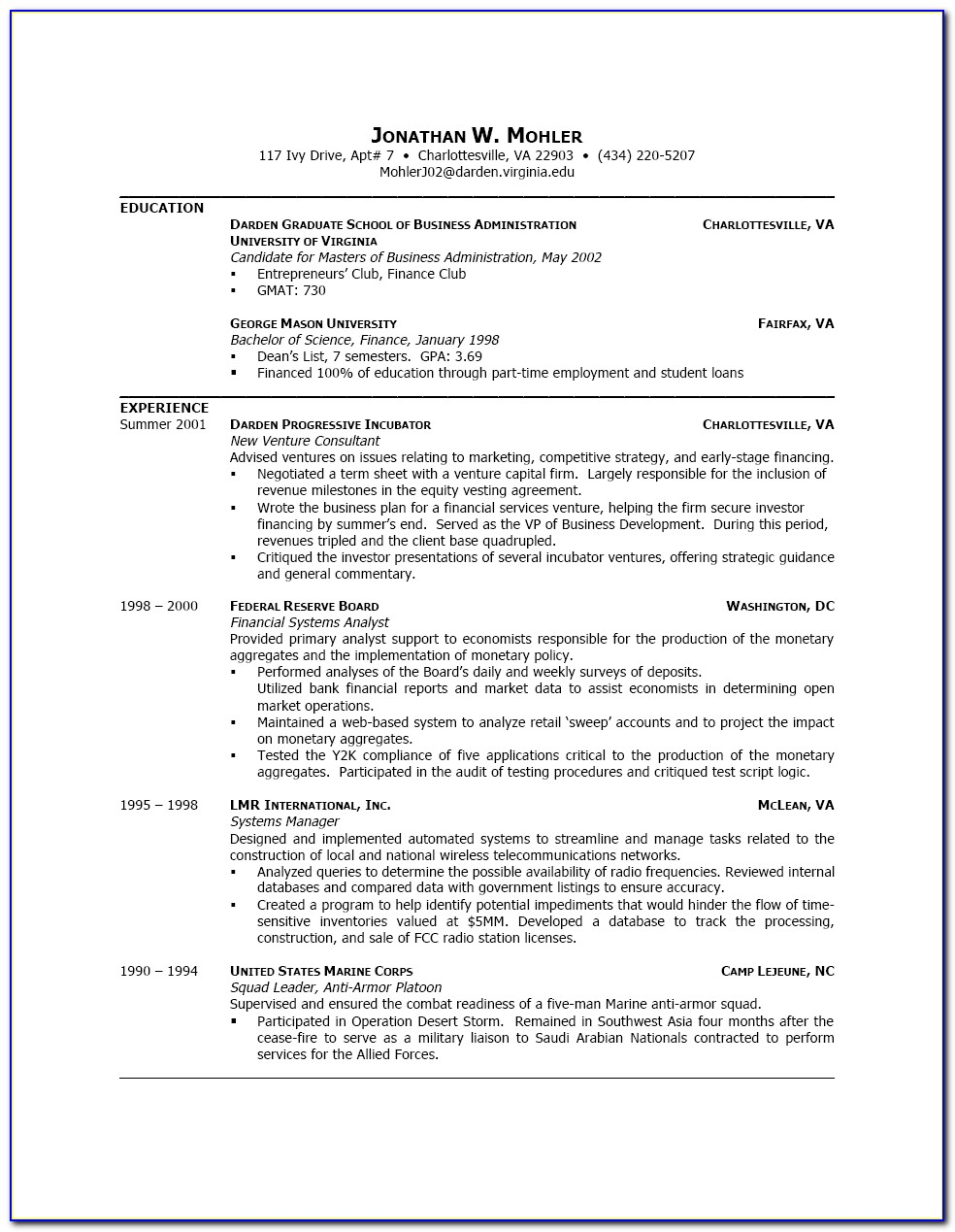 Free Resume Builder For College Students