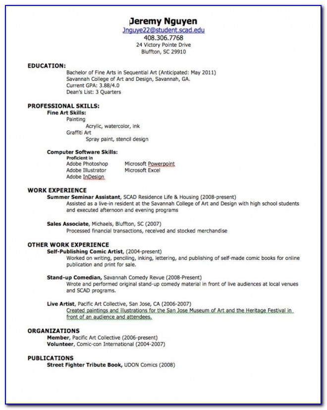 Resume Builder For High School Students | Samples Of Resumes Pertaining To Resume Builder For Students
