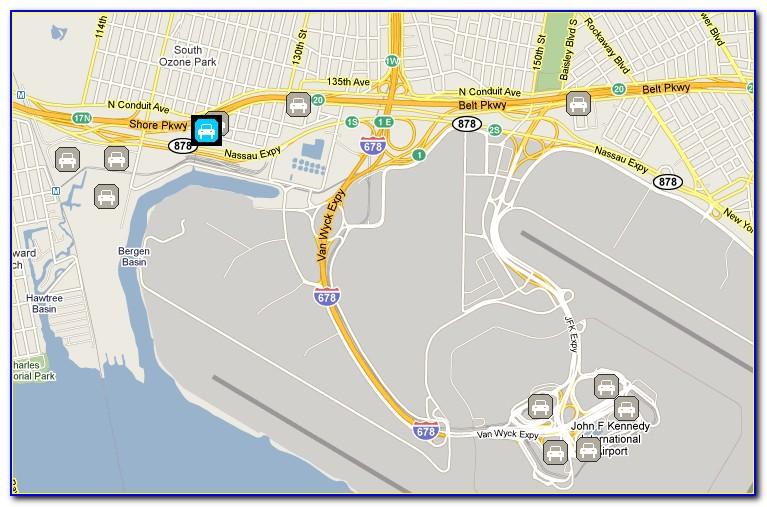 Jfk International Airport Long Term Parking Map