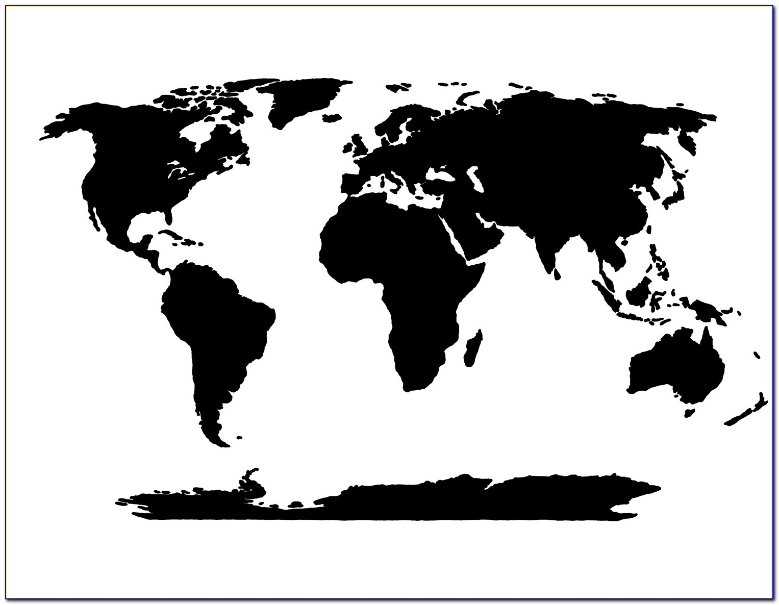Large Map Of The World Stencil