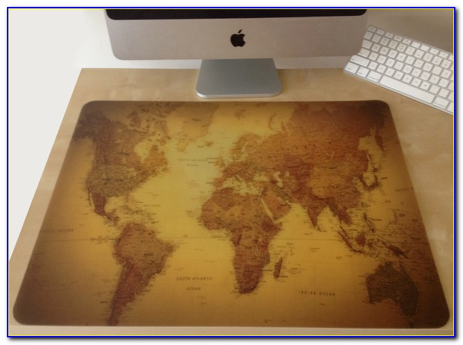 Large World Map Desk Pad