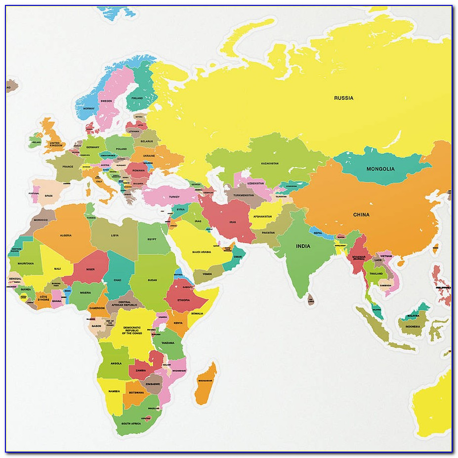 Large World Map With Countries Labeled - Maps : Resume ...