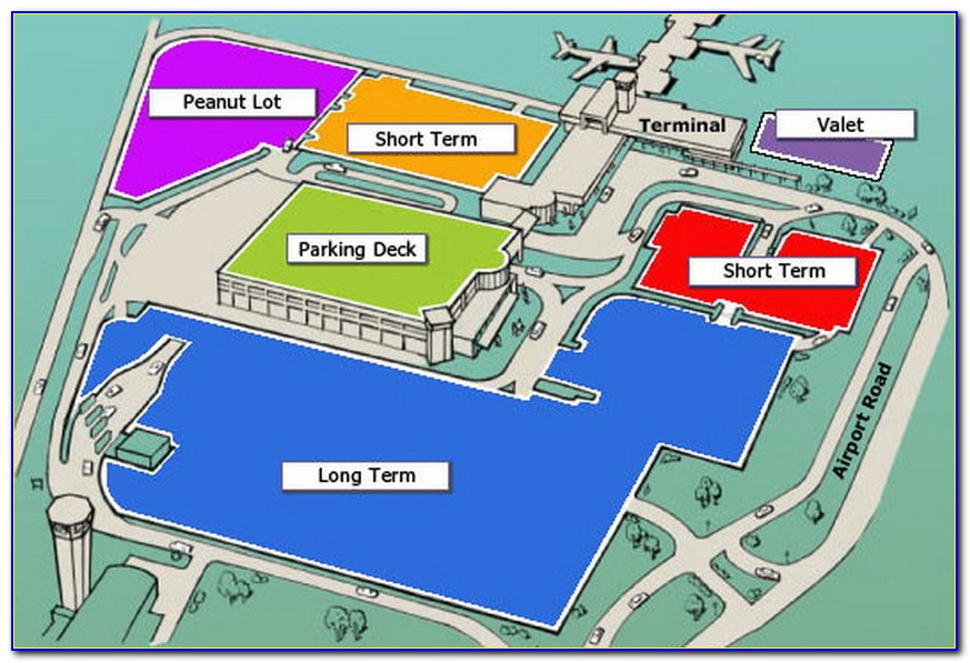 Lax Long Term Parking Lot Map