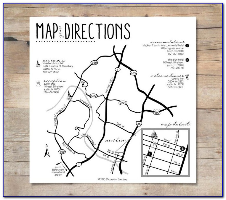 Map Cards For Wedding Invitations