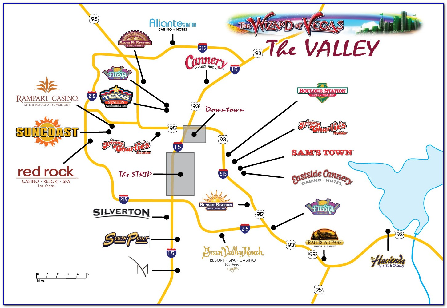 Map Of Casinos In Laughlin