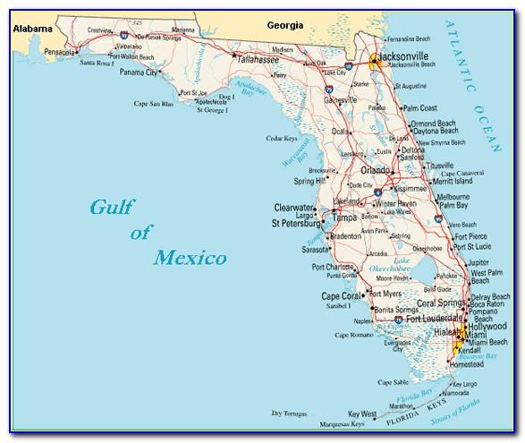 Map Of Florida Gulf Coast Beach Towns