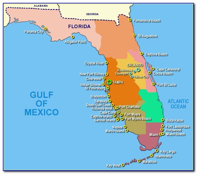Map Of Florida Gulf Coast Airports - Uncategorized : Resume ...