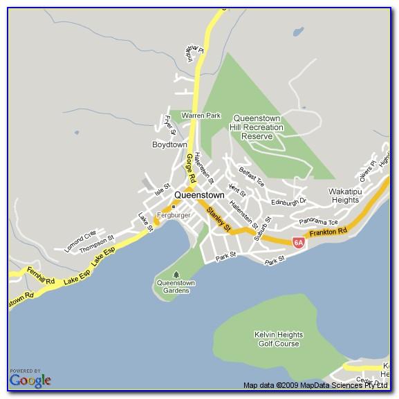 Queenstown Street Map Online Maps Resume Examples