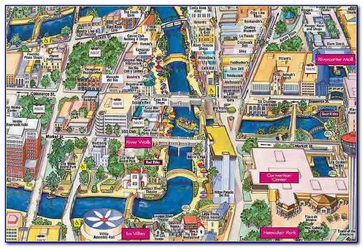 Map Of Riverwalk Hotels In San Antonio Tx Maps Resume