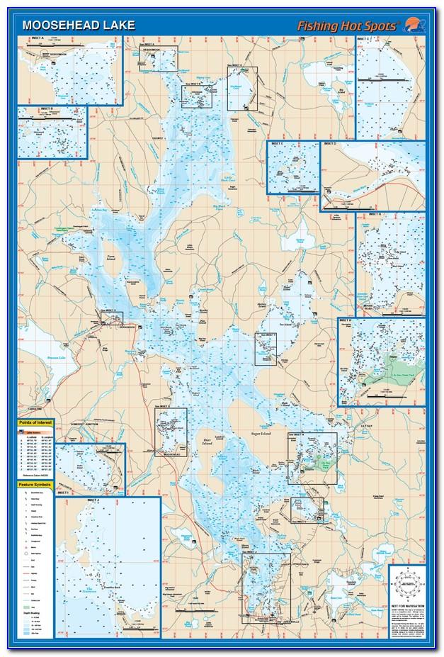 Map Of Moosehead Lake Greenville Maine