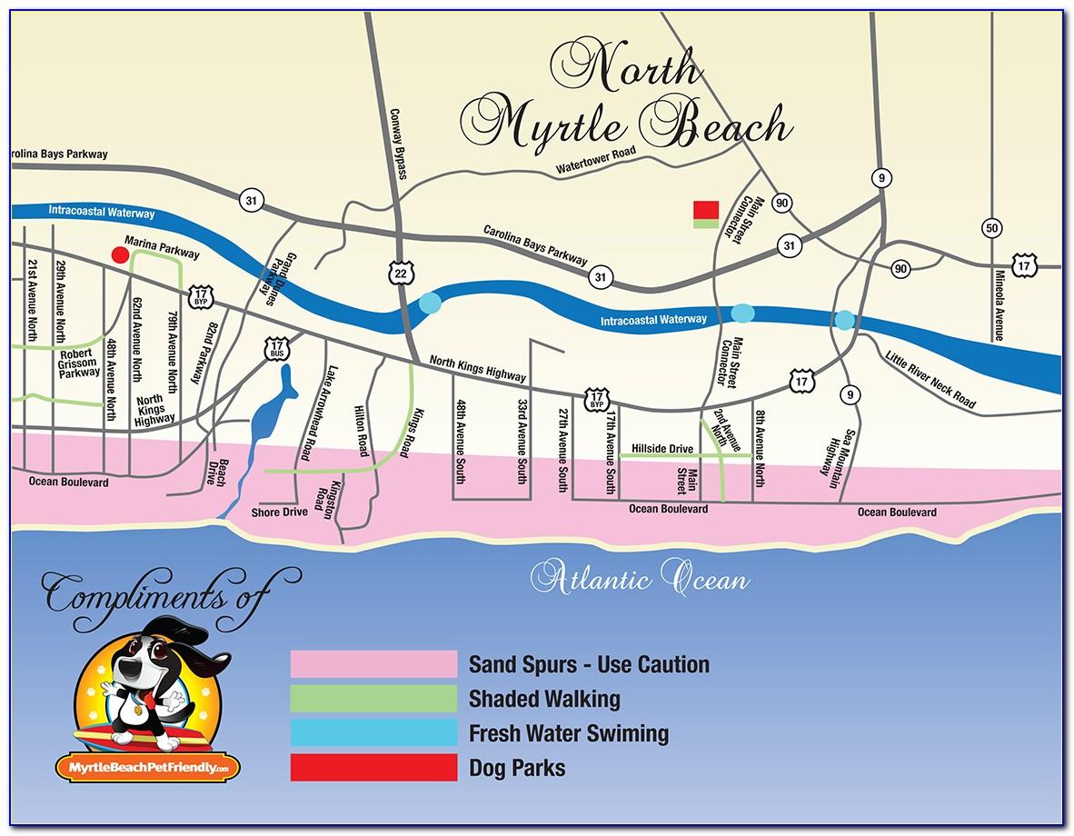 Map Of Myrtle Beach Resort Area