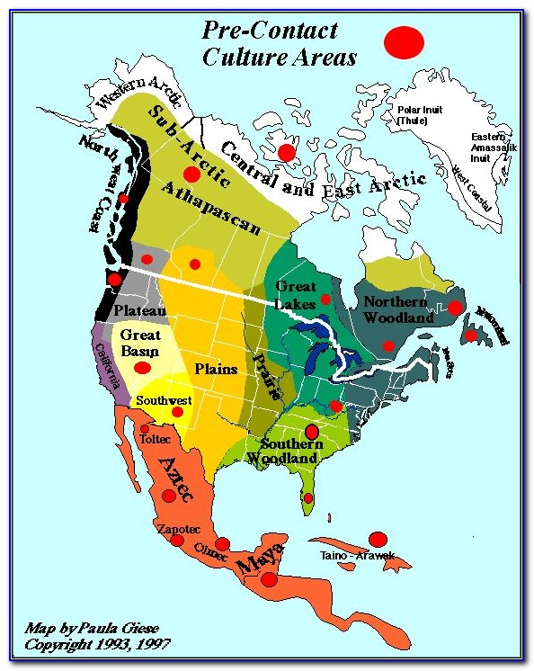 Map Of North American Native Tribes - Uncategorized : Resume ...