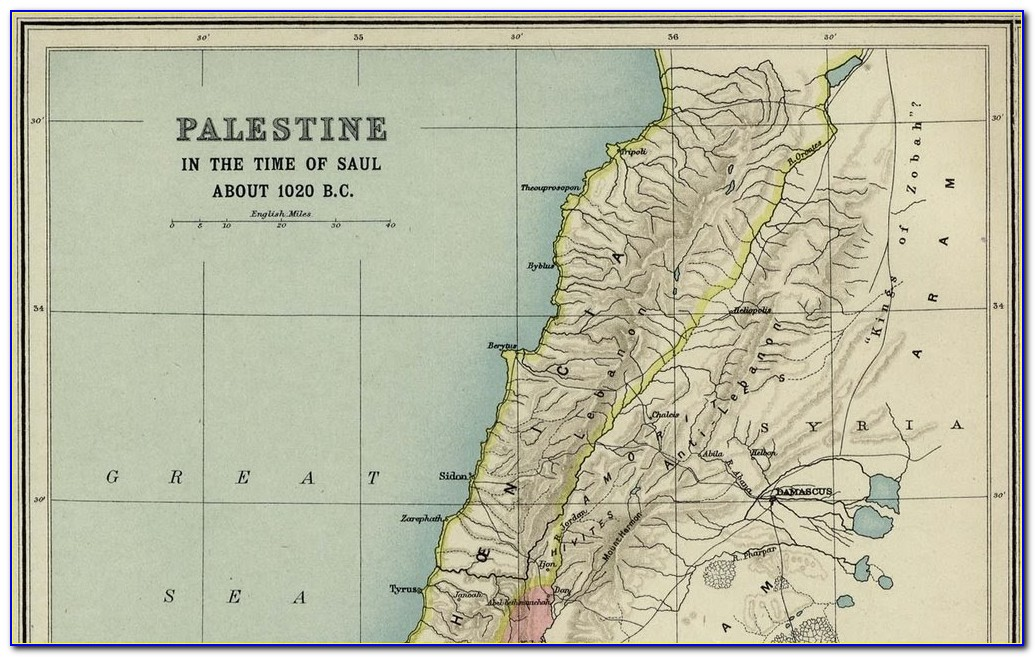 Map Of Palestine In Ancient Times