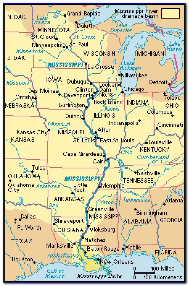 Map Of The Mississippi River Valley