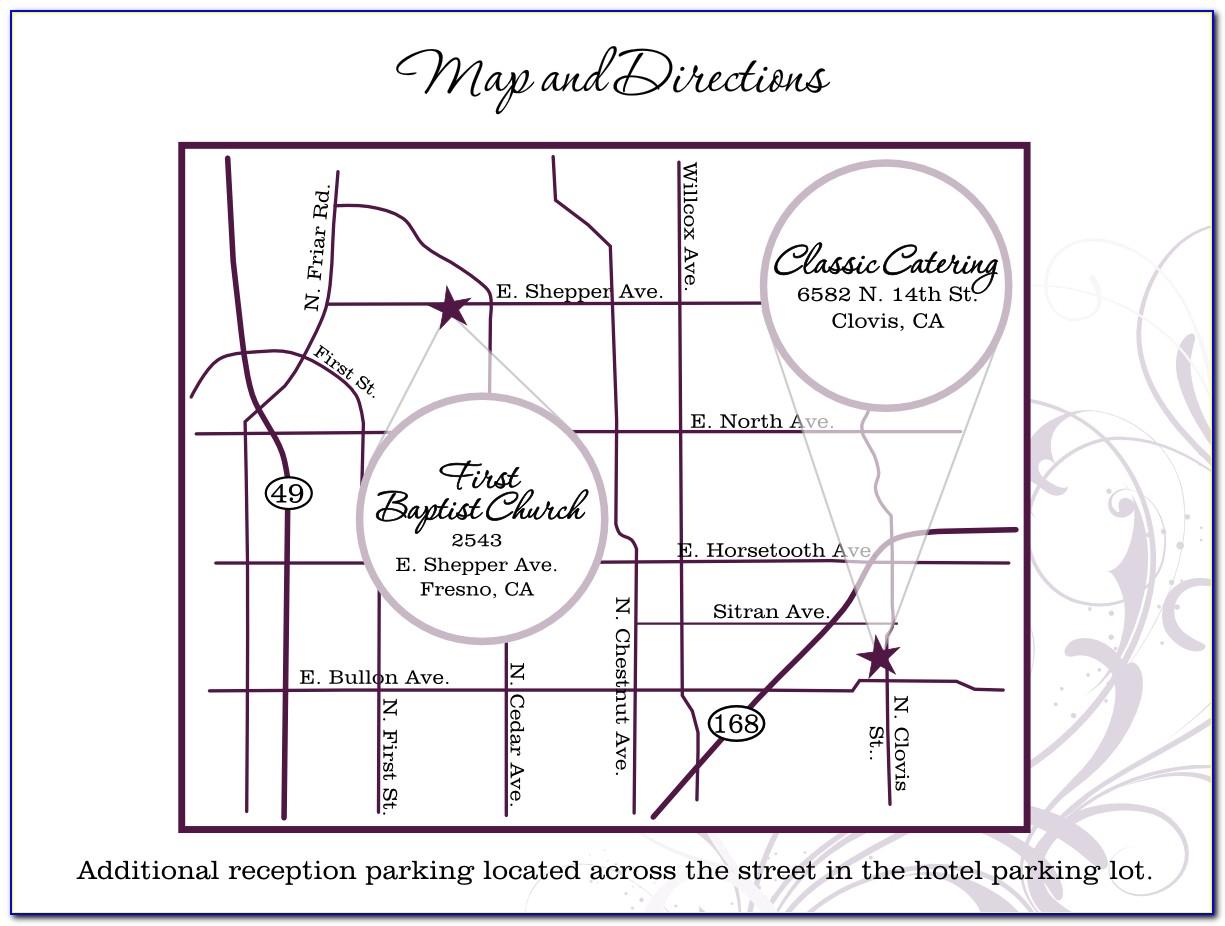 Map Wedding Invitation Template