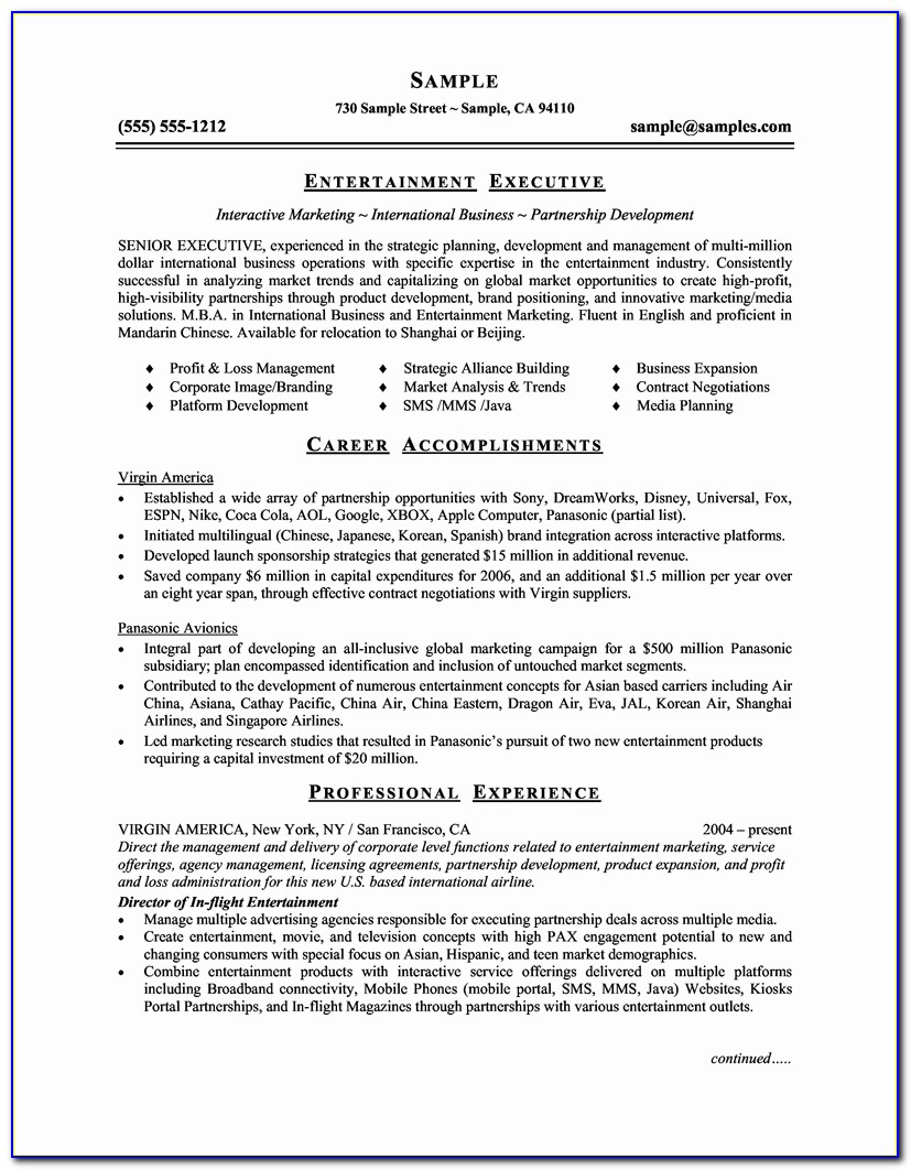Then Functional Executive Resume
