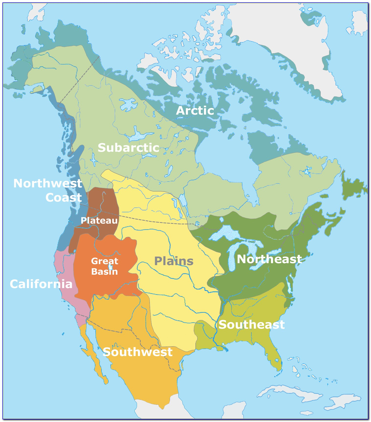 Native American Tribe Map Of North America - Uncategorized ...