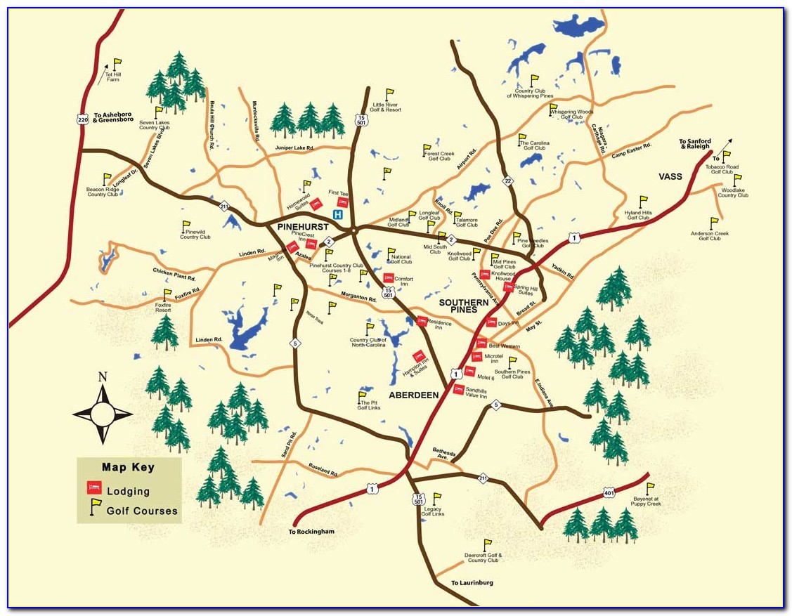 Nc Golf Courses Map