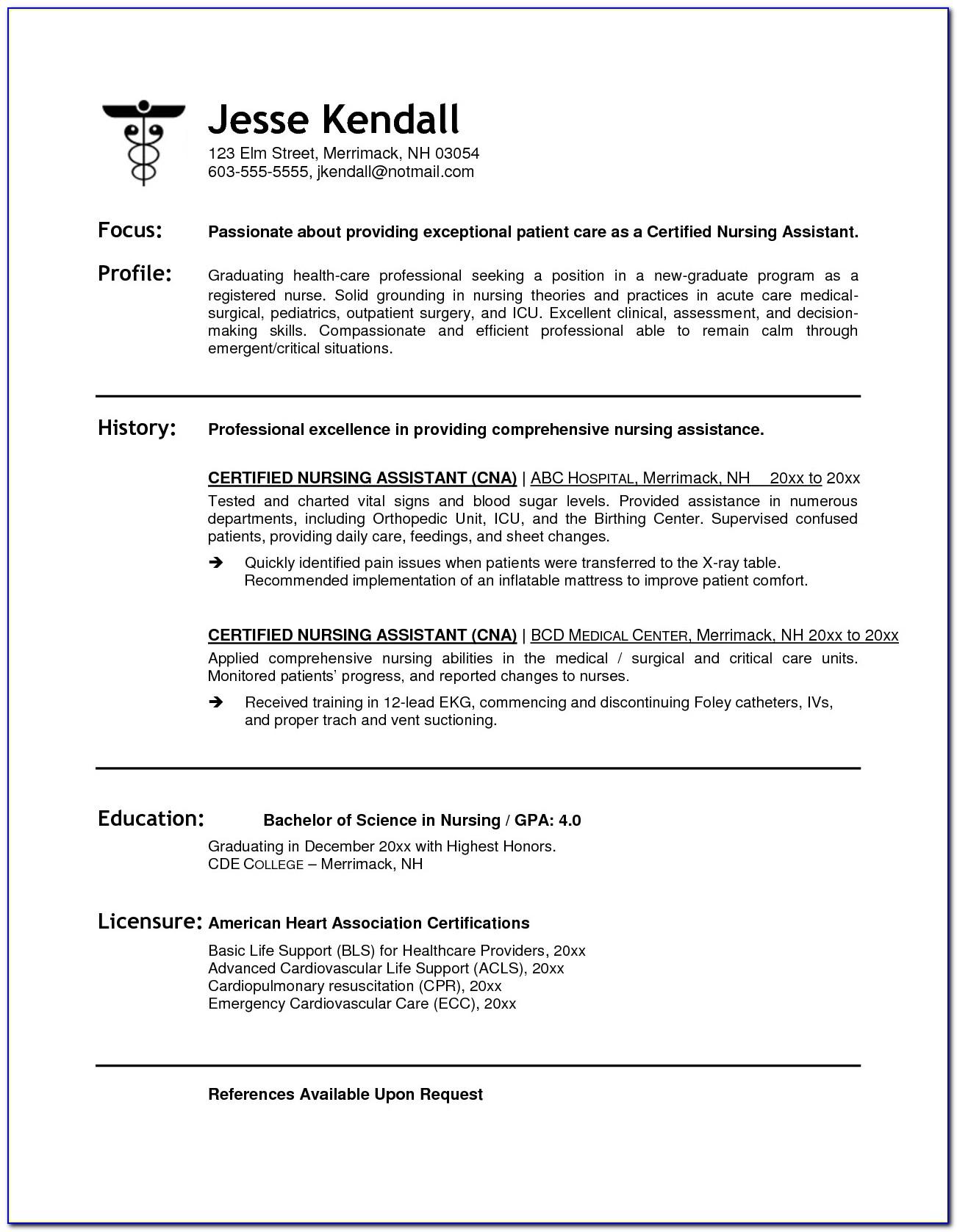 Free Cna Resume Templates Gidiye.redformapolitica.co Inside Cna Resume Template Microsoft Word