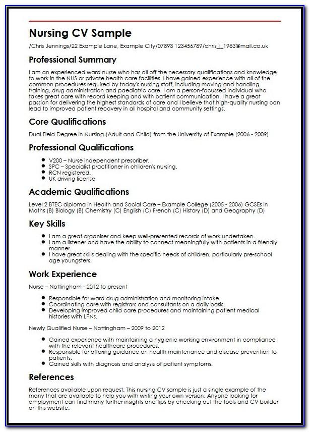 Nursing Resume Template Doc
