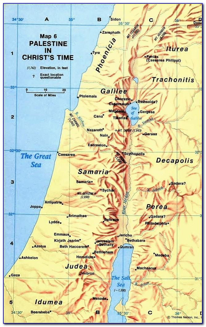 Old Testament Map Of Palestine