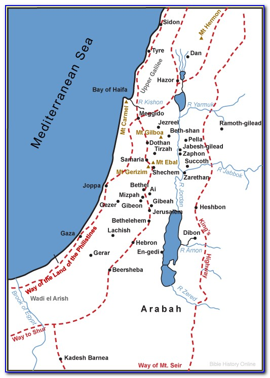 Oldest Map Of Palestine
