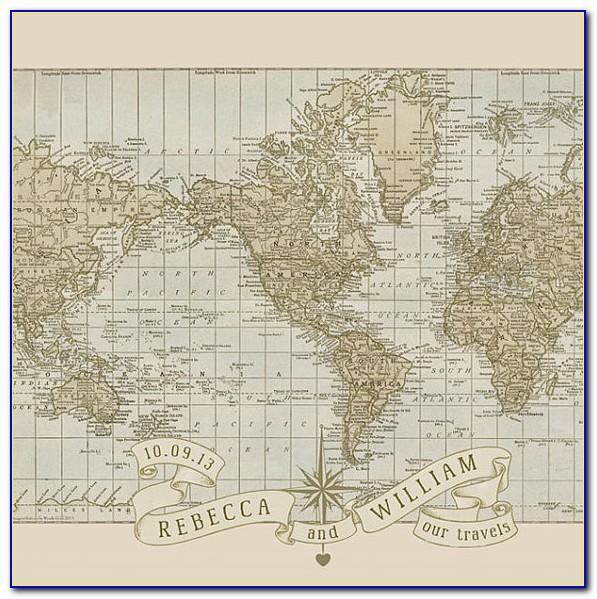 Personalized Wedding & Anniversary Pushpin Map