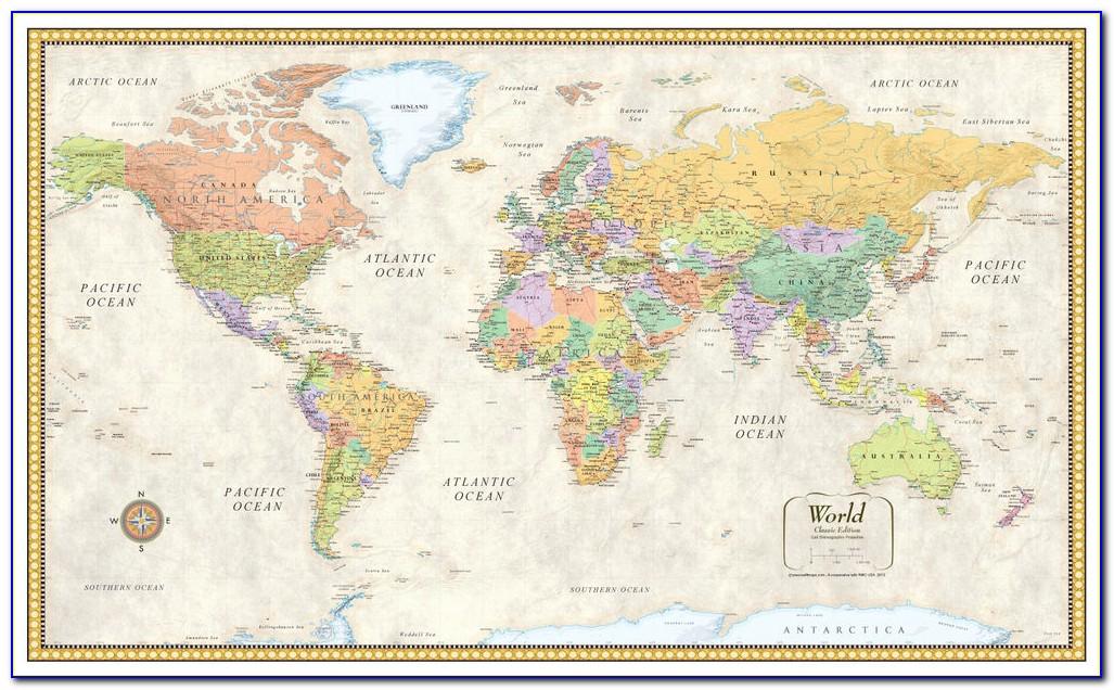 Rand Mcnally Classic World Wall Map