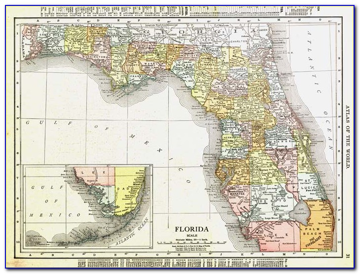 Rand Mcnally Florida State Map