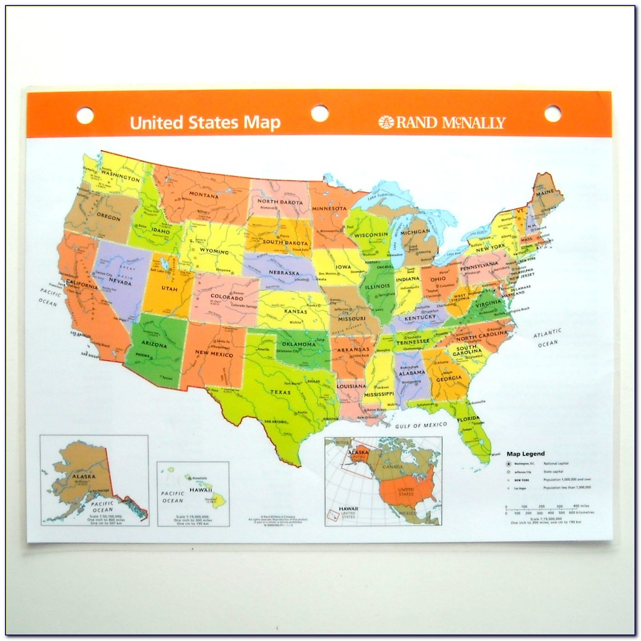 Rand Mcnally Road Map Of Usa