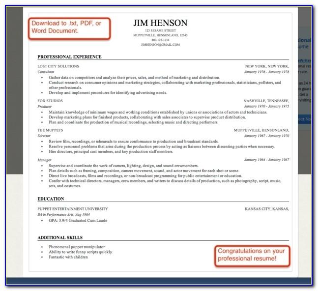 Professional Resume Builder Online | Resume Builder With Regard To Professional Resume Builder Online