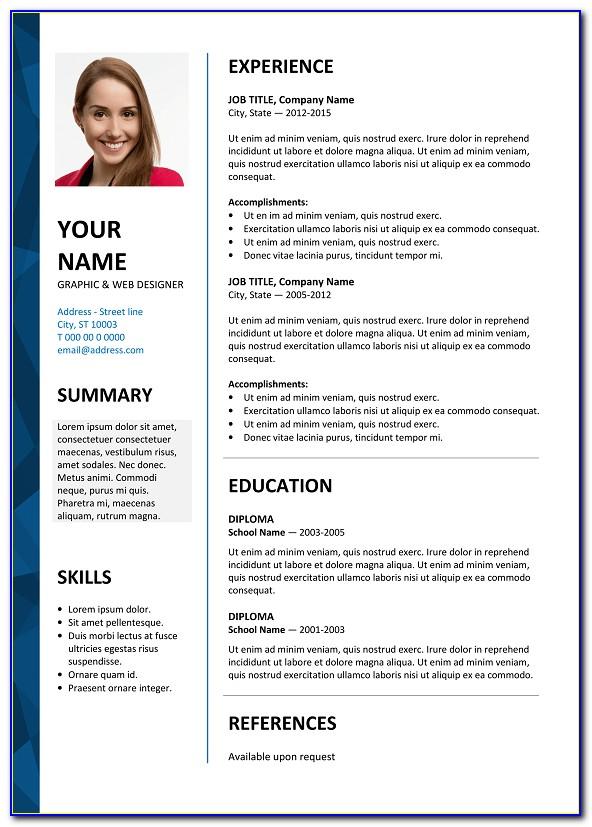 Resume Template Word Free Creative