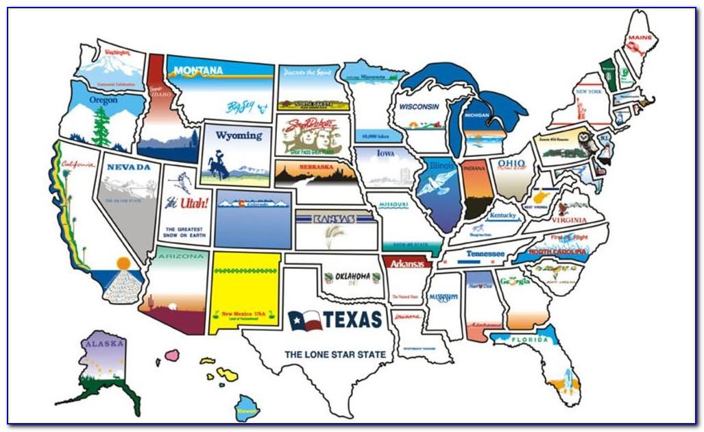 Rv State Sticker Map